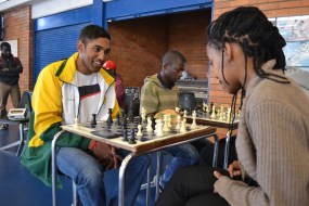 WHAT YOU ROOKIN' AT?: Evasan Chettiar, 2nd year BSc Eng, has been playing chess for eight years and 2nd year Llb student Seadimo Tlale's chess career spans 17 years, the two will represent South Africa at the World University Chess Championships held in Katowice, Poland. Photo: Lameez Omarjee
