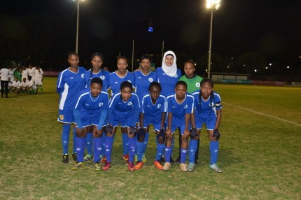STARTER 11: The Wits Women's soccer team went on to win their match against Midrad Graduate Institute with a score of 11-0 on tuesday August 19 at the Rugby field. Photo: Lameez Omarjee