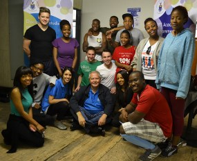 FULL HOUSE: The SEBS student council was accompanied by students from the commerce faculty who wanted to support the cause and Head of School, Prof. Jannie Rossouw. Photo: Lameez Omarjee