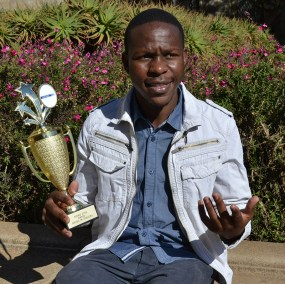 RISING WITSIE LEADERS: First year BA student, Arthur Motolla accepted the Rising Star trophy on behalf of the AIESEC Chapter at Wits University at the leadership conference held at the Nelson Mandela Metropolitan University in June. Photo: Lameez Omarjee