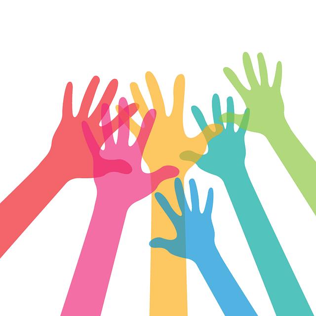 conexión manos colores ayuda