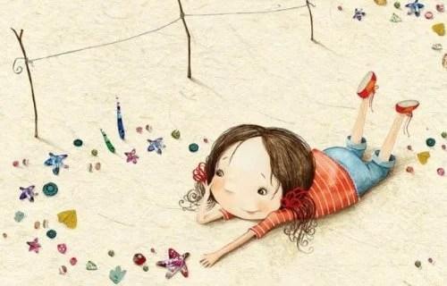 bambina spiaggia