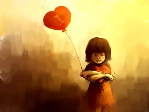 niña con corazón representando la fortaleza de cuando las cosas van mal