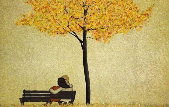 pareja en un parque