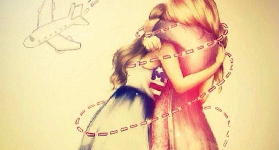 Amigas unidas en un abrazo