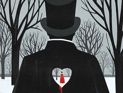 hombre con corazón recortado