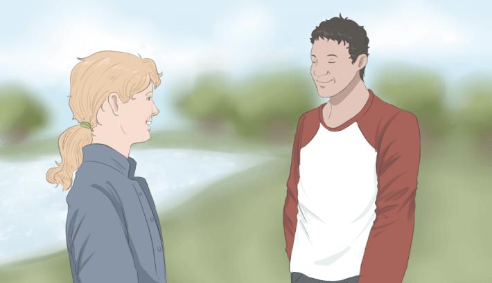 Amigos hablando
