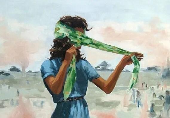 mujer con pañuelo que ya no es la de siempre