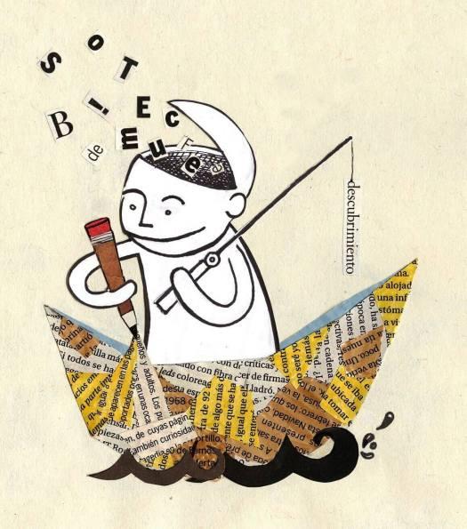 Hombre en un barco de papel