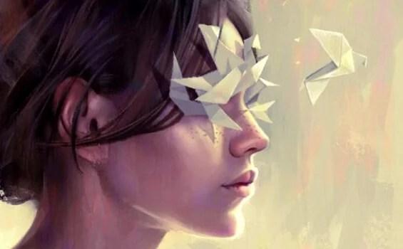 mujer con ojos cerrados para no ver personas tóxicas