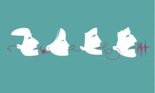 Personas representando los tres filtros de Sócrates