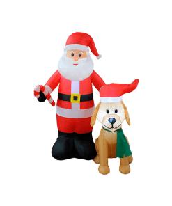 Inflable Navideño Santa Y Amigo Luz Led