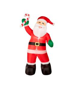 Inflable Navideño Santa Claus C/ Baston Luz Led