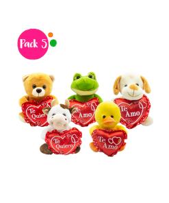 Animalitos de Peluche de San Valentin Corazon