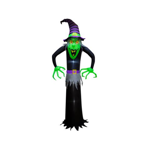 Inflable de Halloween Bruja con Luz Led