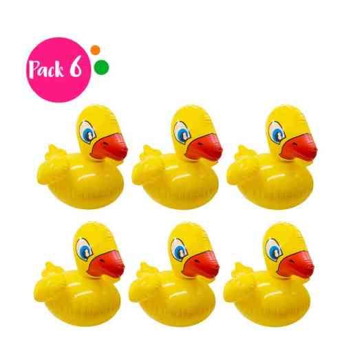 Paquete de 6 Inflables en Forma de Pato