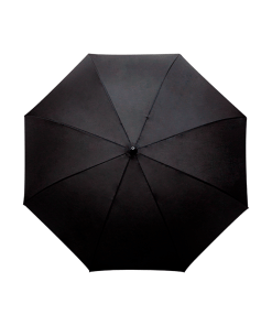 Paraguas Sombrilla Negro Macana Doble Tela