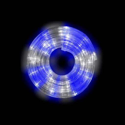 Manguera Gel Navideña Luz Blanca Azul 10 Mts
