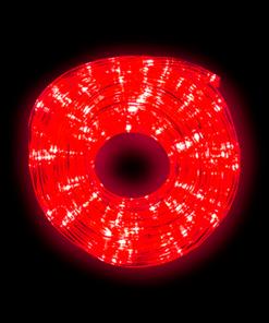 Manguera Gel Navideña Luz Roja Blanca 10 Mts