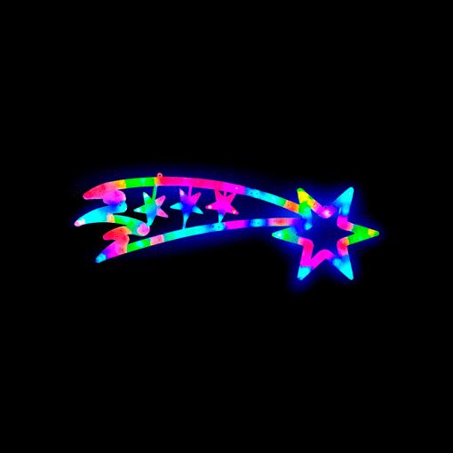 Letrero Navideño Luz Multicolor Estrella Fugaz