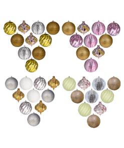 Set de Esferas Navideñas Plástico 12 cm 16 Pzas