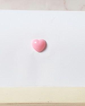 Nez coeur rose 12x13mm