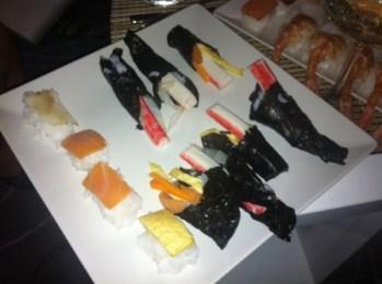 Piezas de sushi