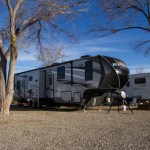 5th wheel camping in Cortez Colorado at La Mesa RV Park
