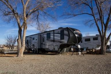 5th wheel camping in Cortez Colorado at La Mesa RV Park