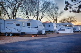 La Mesa RV Park in the winter