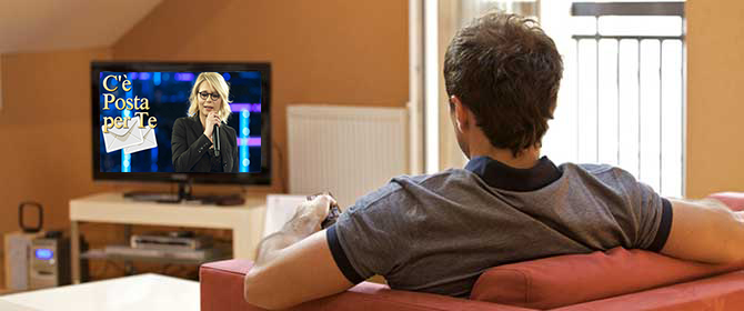 """Sabato sera,""""Non esco perché c'è Maria in TV"""""""