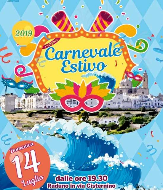 Carnevale Estivo: a Luglio sfilate e carri allegorici a Locorotondo (Ba)