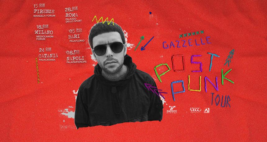 """Musica live: Il """"Post Punk Tour 2020"""" di Gazzelle passa da Bari"""