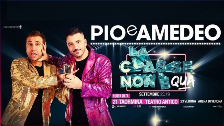 """""""La classe non è acqua"""" – il nuovo show nei teatri del duo comico Pio & Amedeo."""