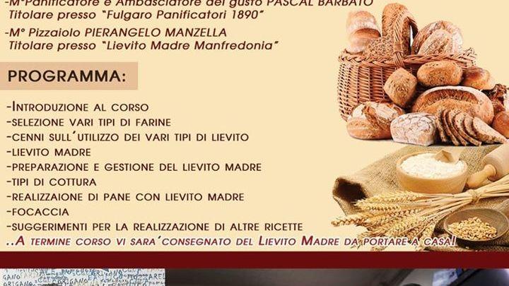 Corso Amatoriale Panificazione: a Manfredonia per imparare l'antica arte del pane