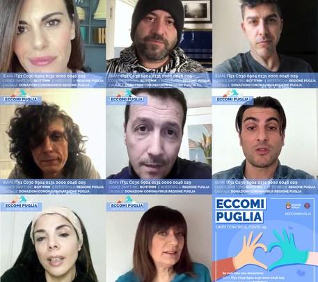 Eccomi Puglia: tanti Vip pugliesi a sostegno della raccolta fondi lanciata dalla Regione