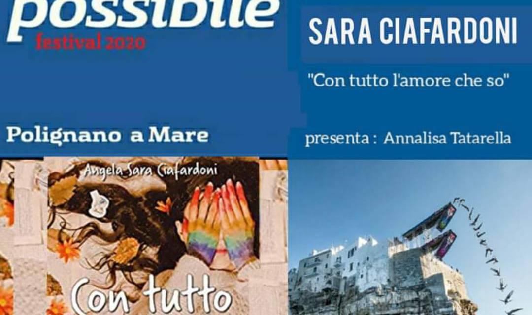 """""""Con tutto l'amore che so"""" di Angela Sara Ciafardoni al Festival del Libro Possibile di Polignano"""