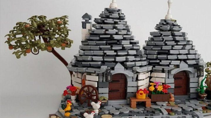Trulli di Alberobello con mattoncini Lego: l'idea creativa di Renato Lovicario