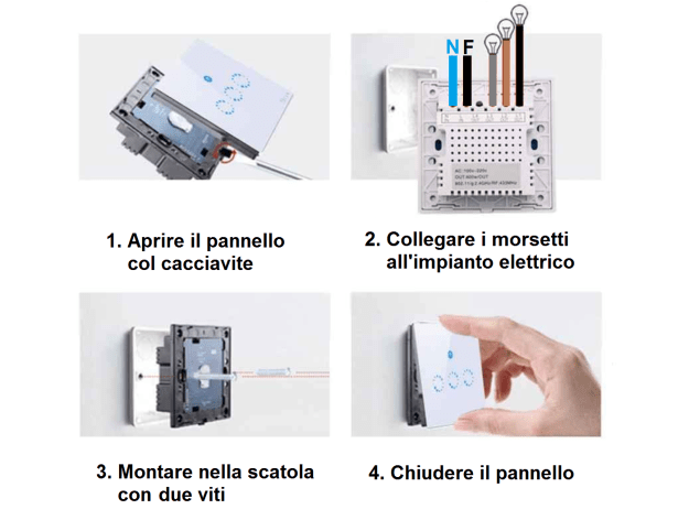 Sonoff T1 interruttore Touch WiFi