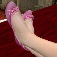 OD Pink Mesh Ballet Flats