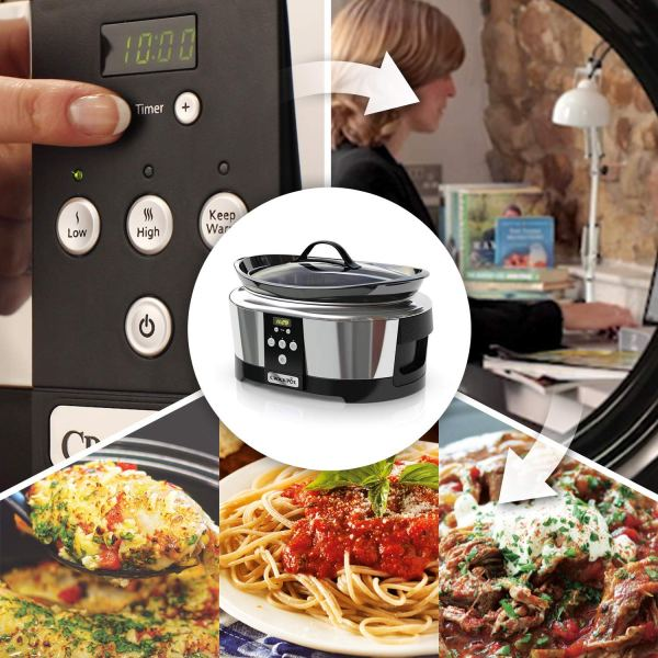 Crock-Pot Slow Cooker Adatta fino a 8 Persone - 230 W pannello digitale
