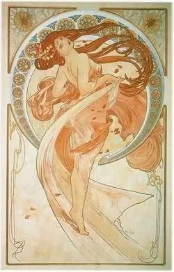 """Alfons Mucha, """"La Danse"""", 1898"""