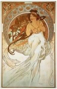 """Alfons Mucha, """"La Musique"""", 1898"""
