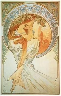 """Alfons Mucha, """"La Poésie"""", 1898"""