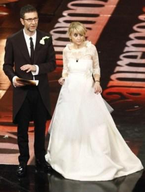 Luciana Littizzetto in abito da sposa Antonio Riva