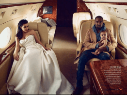 Kim Kardashian, Kanye West e Baby North in uno scatto per Vogue US.