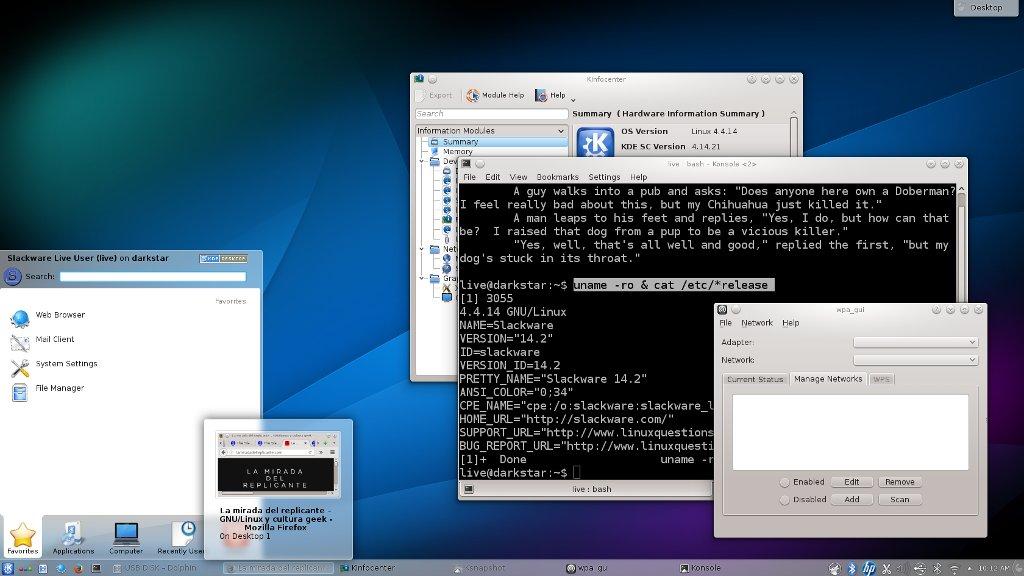 Disponible Slackware 142  La Mirada Del Replicante