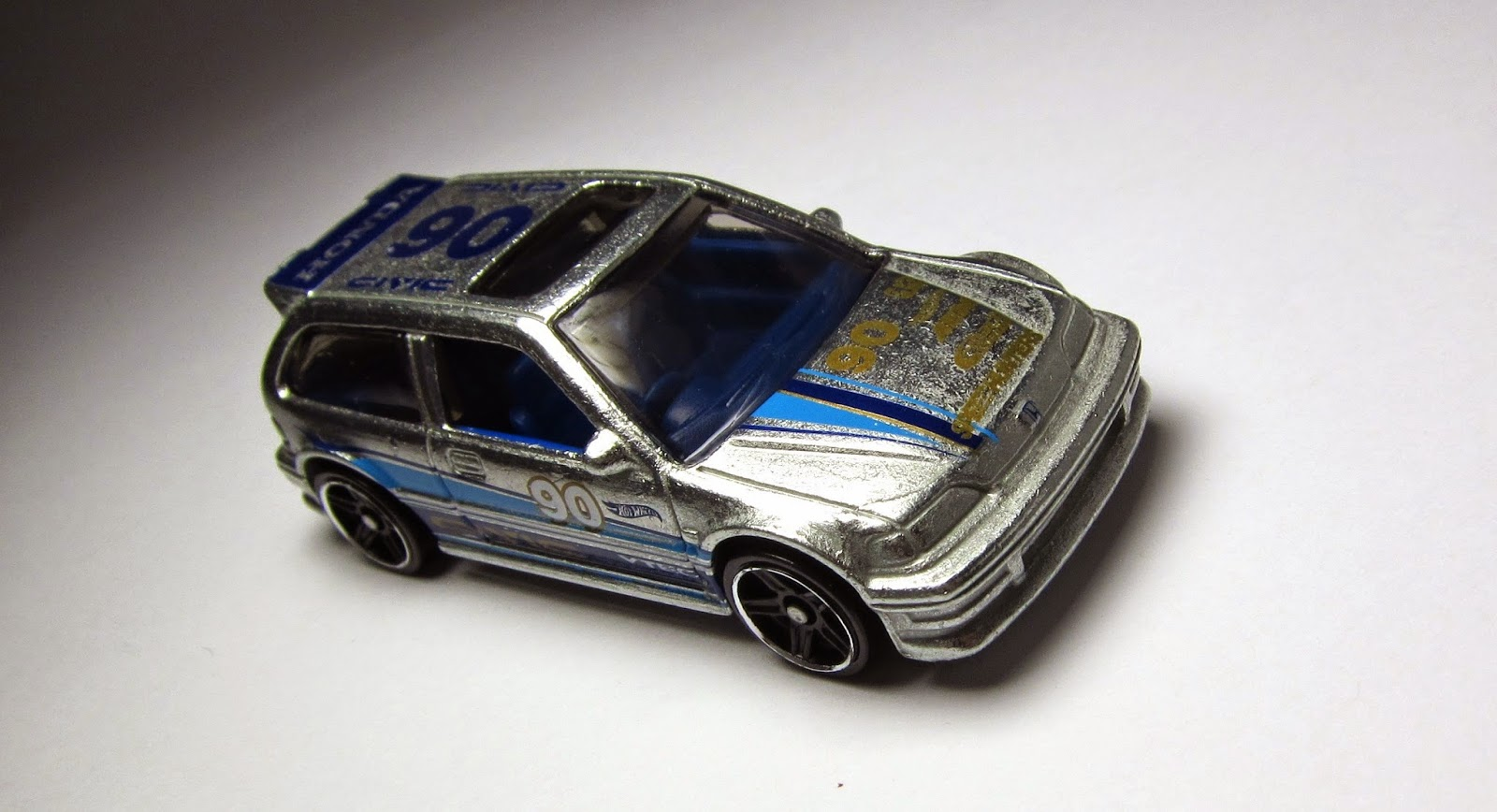 Hot Wheels Custom 1990 Honda Civic EF Black W/ Volks