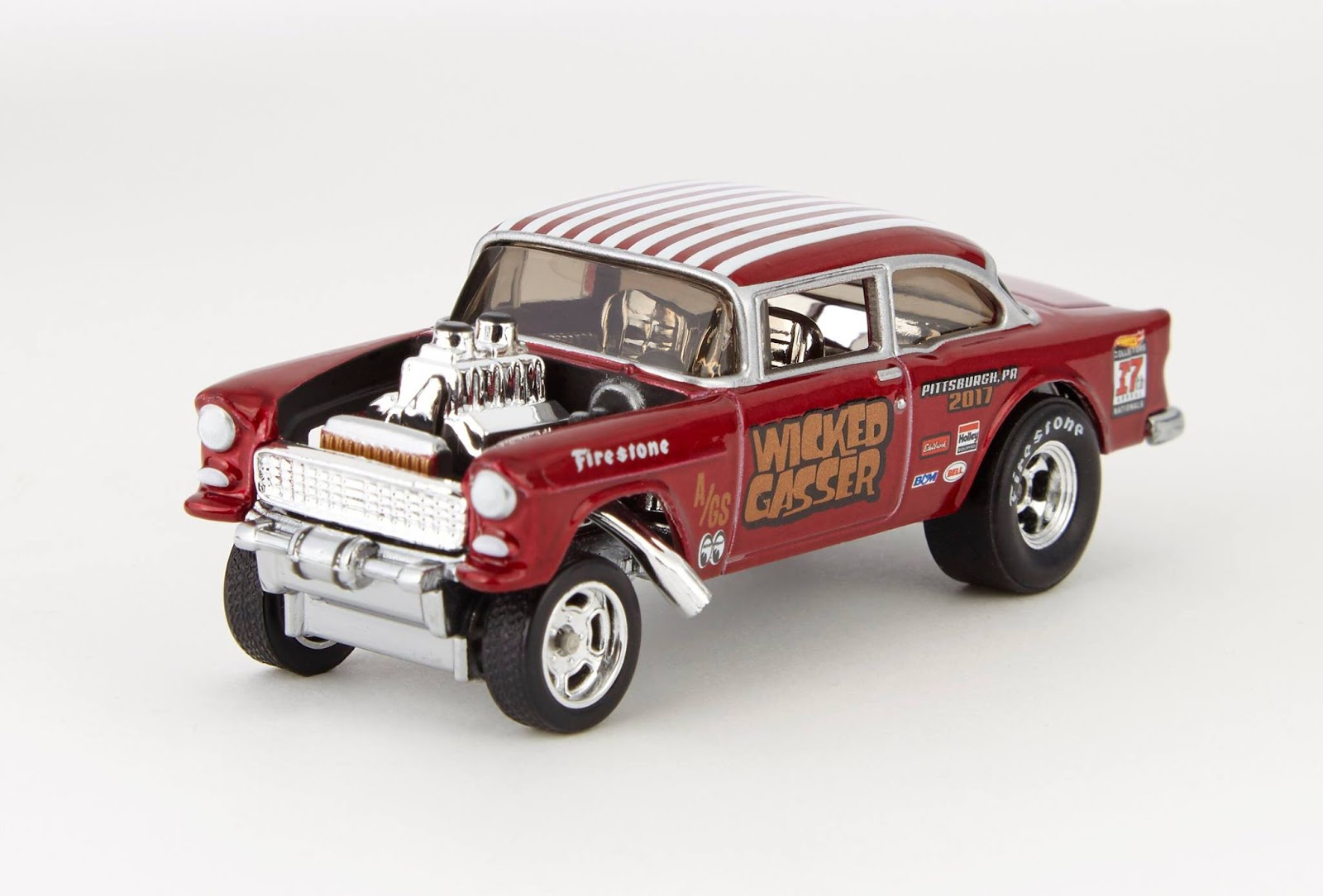 The '55 Bel Air Candy Striper Gasser's cousin is debuting at