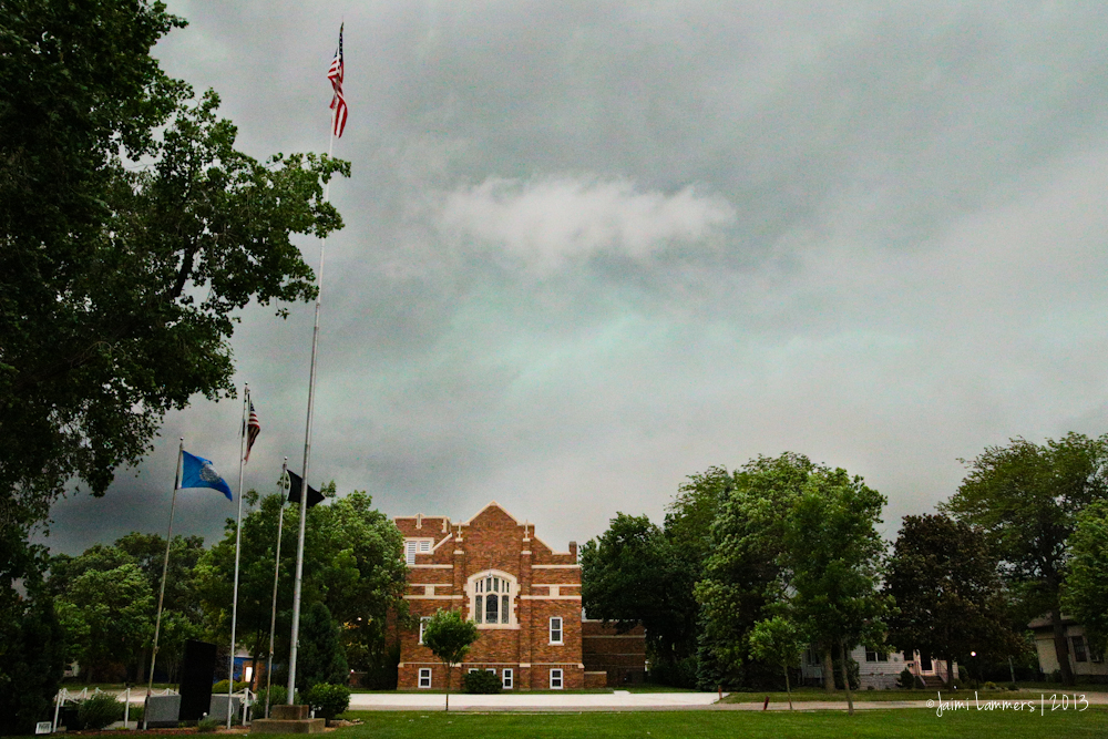 Severe weather over Miller, SD.
